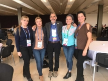 ISHRS 25th World Congress, Prague. Dr Julia Nikonova San Diego, dr Balković Marija Beograd, dr Timothy Carman San Diego ,dr Robin Unger New York i Charlot Meia New York.