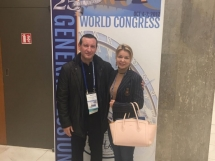 ISHRS 25th World Congress, Prague. Dr Marija Balković i Dr Georgios Zontos.
