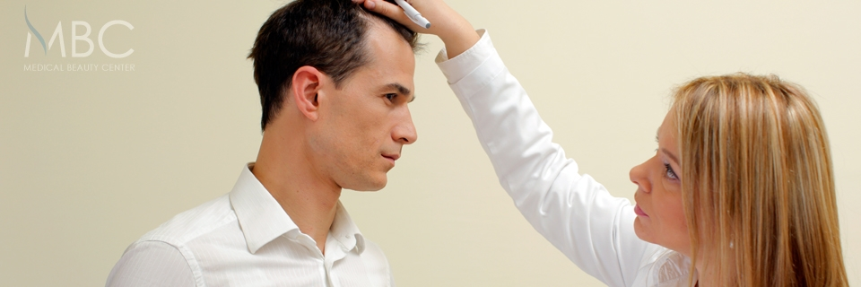 Detailed planning before hair transplant procedure